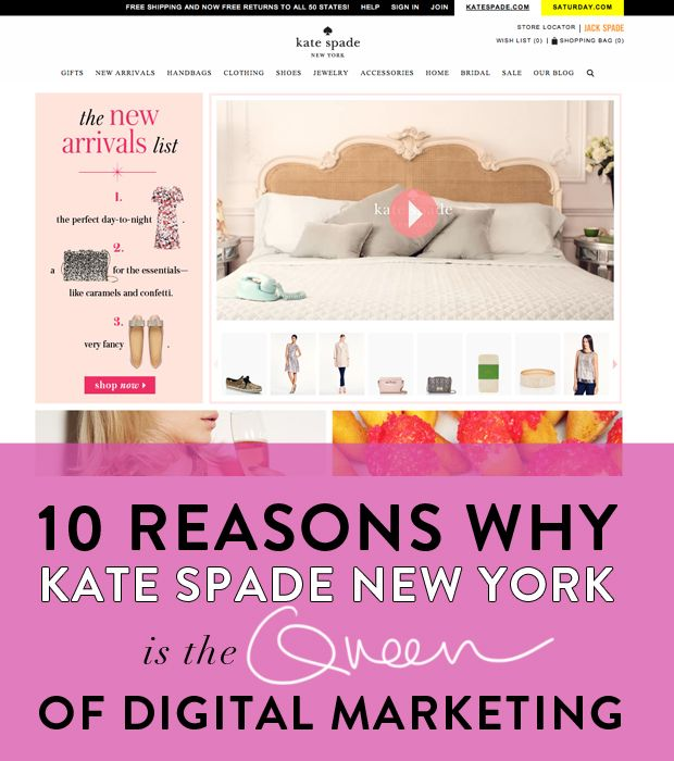 Kate Spade Queen of Digital Marketing