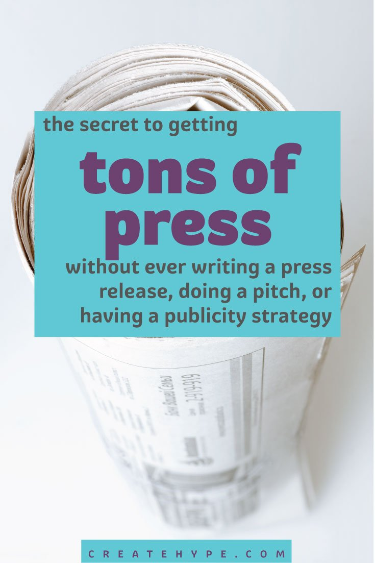 So how is it possible to get the media attention your work deserves? Here's what you MUST have in place in order to be a press magnet.